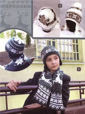Комплект - шапочка и шарф