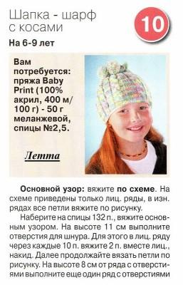 Вяжем шапку-шарф