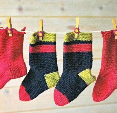 Теплые зимние носки для малыша