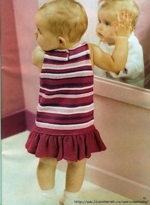 Полосатое платье для малышки