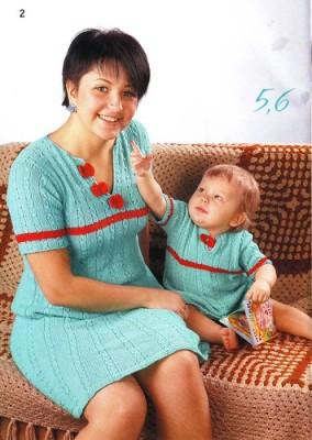 Два платья - для мамы и для малышки