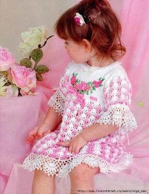 Вязаное своими руками платье