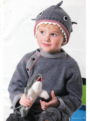 Оригинальная шапка и пуловер