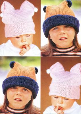 Веселые шапочки спицами