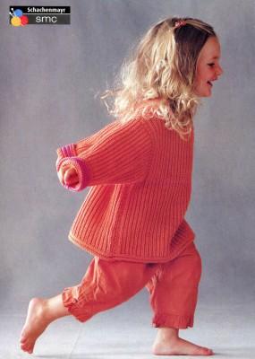 Пуловер для маленькой девочки