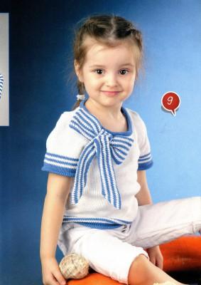 Детская кофточка с бантом